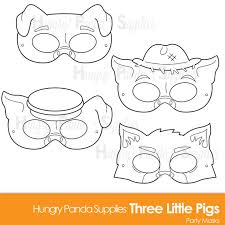 pigs printable coloring masks pigs