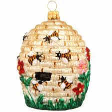 beehive glass ornament bronner s