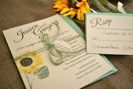 invitation kits for wedding sunflower wedding invitations plumegiant com