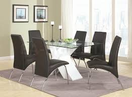 white dining table black chairs sale 876 00 ophelia 5 pc dining set glass table with white x