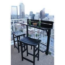 Condo Patio Furniture Toronto Miyu Furniture 3 Piece Balcony Bar Overstock Com Shopping The