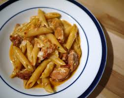 happily waiting for spring spicy sausage pasta bake butter poached