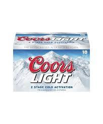 coors light 18 pack light lager tagged united states liquornmore