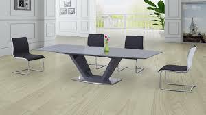 High Gloss Extending Dining Table High Gloss Dining Table Set Pure White High Gloss Dining Table 4