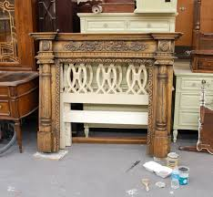 How To Finish A Fireplace - a fireplace mantle transformed the chalk and clay paint way