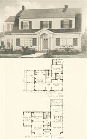 colonial revival house plans colonial revival 1920s house plan no 3028 southern pine