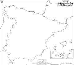 blank map of spain spain outline map