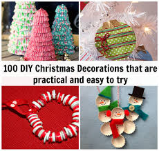 Homemade Christmas Decoration Ideas by 100 Diy Christmas Decorations That Are Practical And Easy To Try