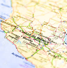 Map Of Mexico by Close Up Map Of Mexico City Mexico Stock Photo Picture And