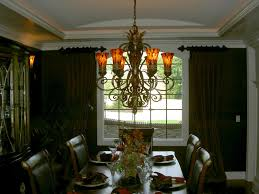 rustic dining room window treatments ideas with pretty orange