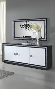 chambre laque noir buffet bahut design 3 portes laqué blanc et noir doria buffet