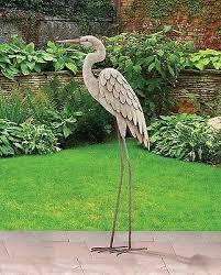 Outdoor Decor Statues Impressive On Bird Statues Garden Decor Outdoor Garden Decor Egret