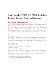 2001 yamaha xp500 n tmax workshop repair manual download german