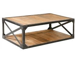 Wooden Coffee Table Industrial Metal And Wood Coffee 51 Table Rectangular Cocktail