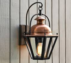 Lantern Wall Sconce Indoor Outdoor Sconce Pottery Barn