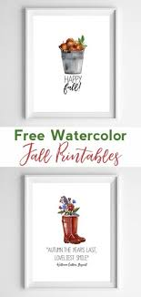 free printable art home decor fall wall decor free printable art fall home decor watercolor