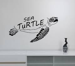 sea turtle wall art vinyl decal ocean life sticker marine