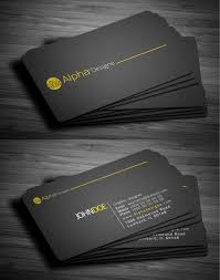 Make My Own Business Card Design Outstanding 2 Sided Business Card Business Cards Unique