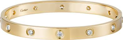 cartier bracelet images Crb6040517 love bracelet 10 diamonds yellow gold diamonds png