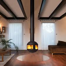 cheminee moderne design cheminées design centrales focus