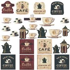 amazon com roommates rmk1254scs coffee house peel u0026 stick wall