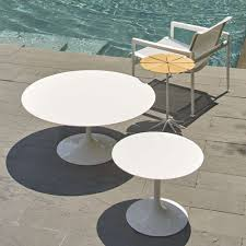 saarinen round side table by knoll yliving