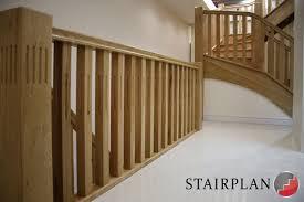 Sanding Banister Stair Banister Oak Staircase Gallery