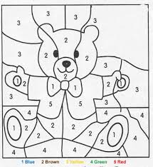 teddy bear color number perfect picnic kinder