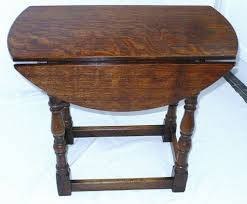 impressive drop side table with small drop leaf table in oak