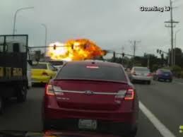 video fiery plane crash caught on camera in washington state