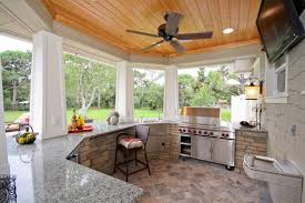 Ceiling Fans Outdoor by Backyard Outdoor Kitchen Patio Mediterranean With Outdoor Bar