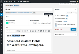 acf advanced custom fields plugin for wordpress