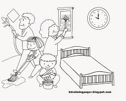house cleaning family coloring pages house cleaning family