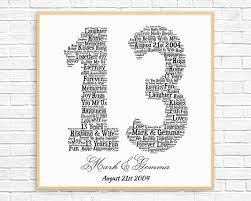 13th anniversary gift personalized 13th anniversary gift word printable