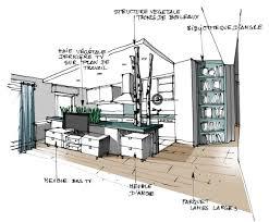 dans la cuisine réalisation edeco du végétal dans la cuisine interior sketch