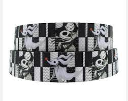 skellington ribbon skellington ribbon etsy