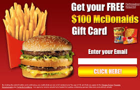 mcdonalds e gift card don t you just mcdonald s i it i just entered to get a