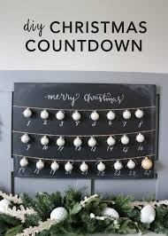 diy chalkboard christmas countdown each day advent calendar and