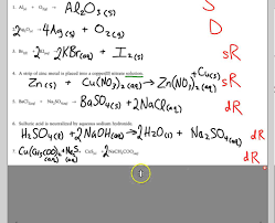 3 4 double displacement reactions worksheet youtube