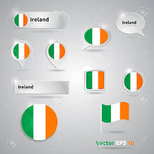 Flags That Are Orange White And Green Ireland Icon Set Of Flags Green White Orange Template Ireland