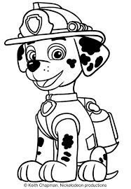 marshall paw patrol coloring