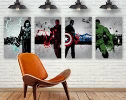 Captain America Decor Avengers Home Decor Etsy