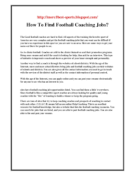How To Find Resumes Online by How To Find Football Coaching Jobs