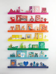 Rainbow Ledge DIY Storage Ideas Kids S And Storage - Shelf kids room