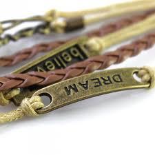 love braid bracelet images Dream believe love friendship braid leather wrap bracelet jpg