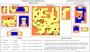 pokemon crystal version whirl island map for game boy color by