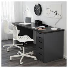 Ikea Desk Office Linnmon Table Top Black Brown 200x60 Cm Ikea