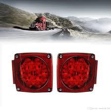 led boat trailer lights square tail brake lights kit water resistant led side marker for