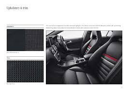 A Class Upholstery 2015 Mercedes A Class Brochure India