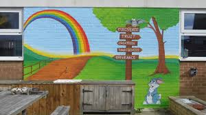 business schools custom artwerk faith garden wall